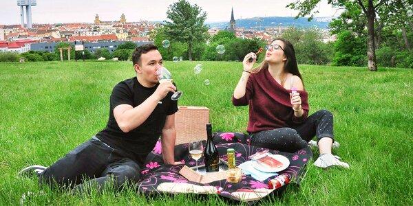 Piknikový koš pro 2: víno, prosecco, řízky i kuře