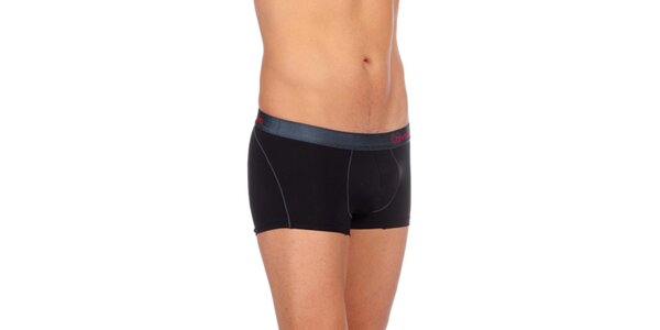 Pánské černé přiléhavé boxerky Calvin Clein Underwear s nízkým pasem