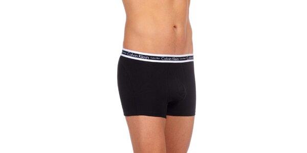 Pánské černé spodní prádlo Calvin Klein Underwear s bílým vrchním lemem