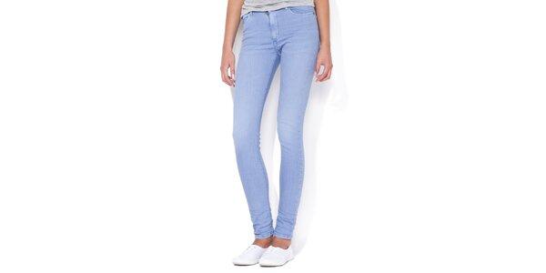 Dámské pastelově modré skinny džíny Blue Roses