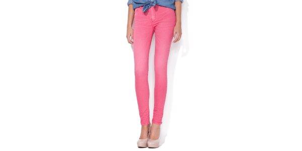 Dámské cukrově růžové skinny džíny Blue Roses