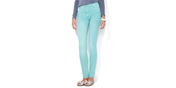 Dámské mátově zelené skinny džíny Blue Roses