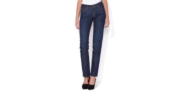 Dámské rovné tmavě modré džíny Blue Roses s vyšším pasem