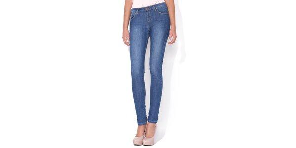 Dámské úzké modré skinny jeans Blue Roses