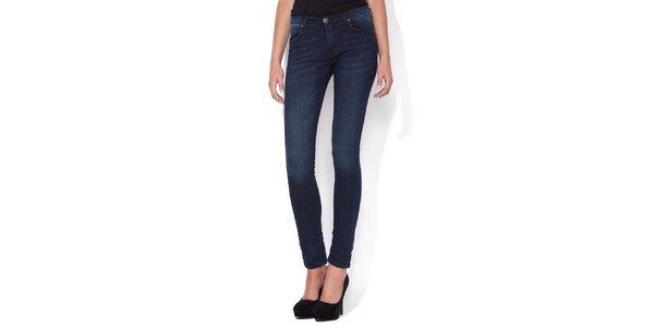 Dámské super úzké modré skinny jeans Blue Roses