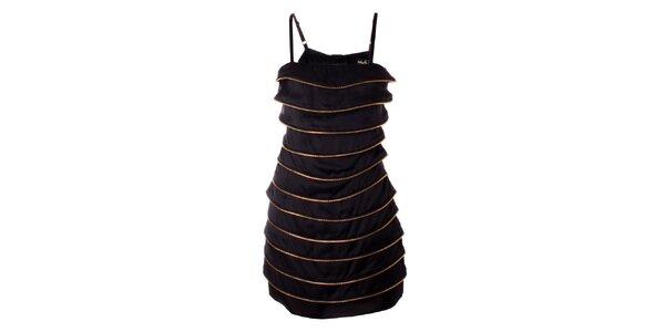 Dámské černé šaty Baby Phat se zlatými zipy