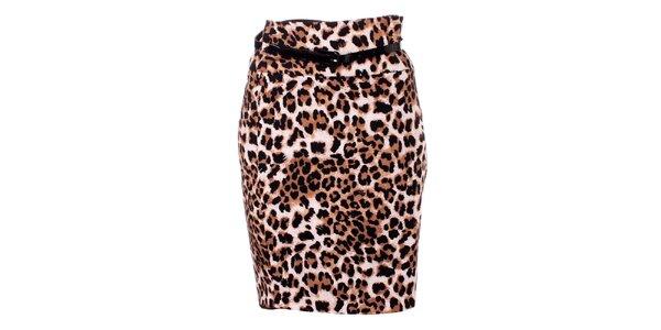 Dámská hnědá leopardí sukně baby Phat