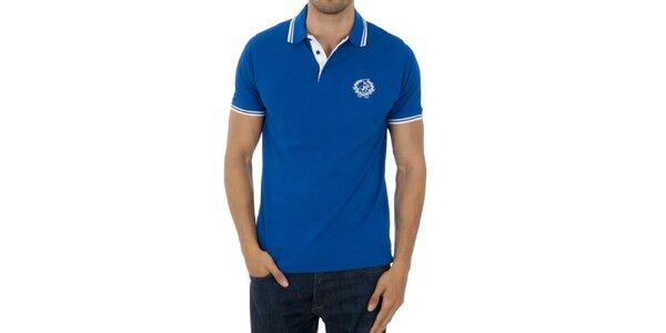 Pánské zářivě modré polo Polo Club