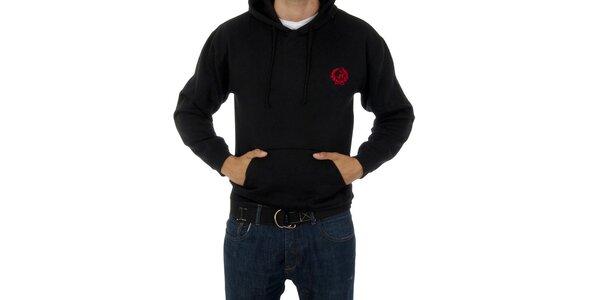 Pánská černá mikina Polo Club s kapucí