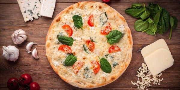1 či 2 pizzy o průměru 38 cm podle výběru z 12 druhů