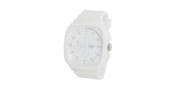 Sportovní bílé silikonové hodinky Adidas