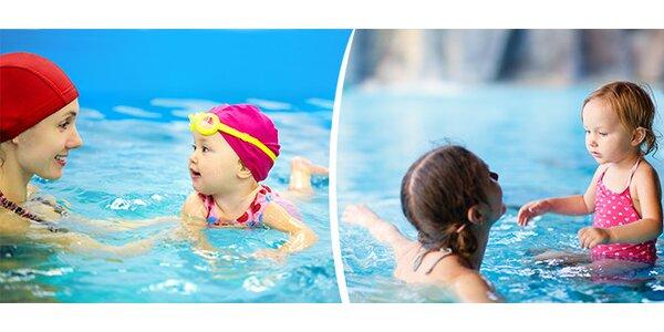 Kurz plavání rodičů s dětmi a kurz plavání dětí bez rodičů
