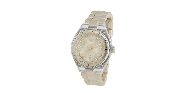 Dámské zlaté hodinky Adidas s transparentními detaily