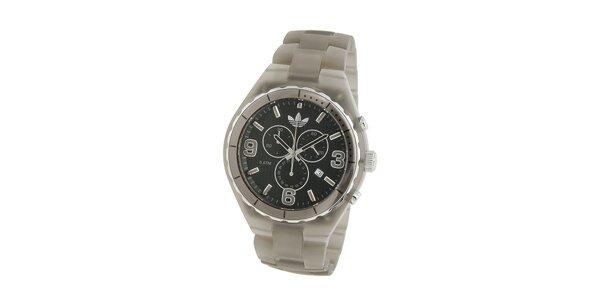 Pánské tmavě šedé transparentní hodinky Adidas