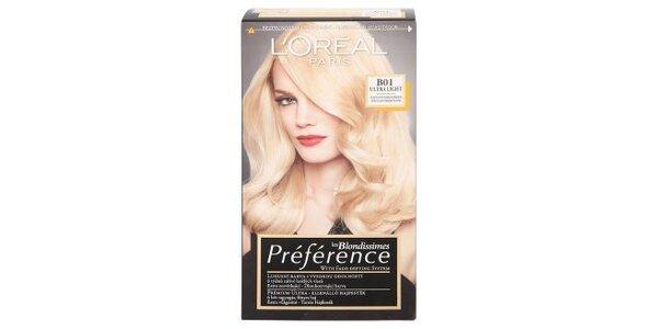 PRÉFÉRENCE B01 velmi velmi světlá blond přírodní
