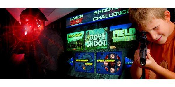 Hodina zábavy na laserové projekční střelnici