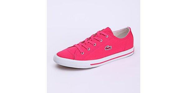 Dámské nízké růžové tenisky Lacoste