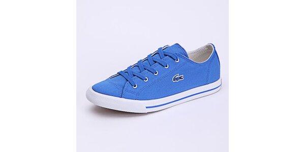 Dámské světle modré plátěné tenisky Lacoste
