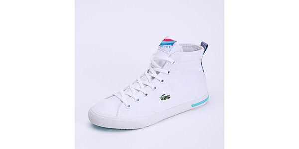 Dámské bílé kotníkové tenisky Lacoste