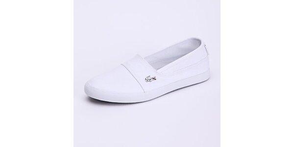 Dámské bílé nazouvací tenisky Lacoste