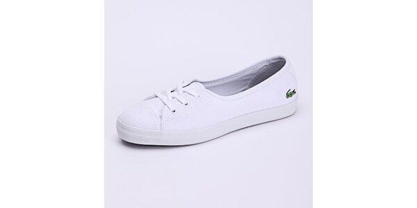 Dámské bílé nízké tenisky Lacoste