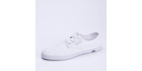 Pánské bílé plátěné nízké tenisky Lacoste