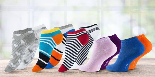 4 nebo 5 párů dámských kotníkových ponožek