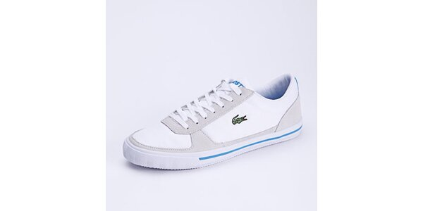Pánské bílé tenisky s modrými detaily Lacoste
