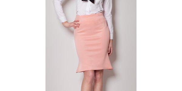 Dámské růžová sukně do pasu Figl