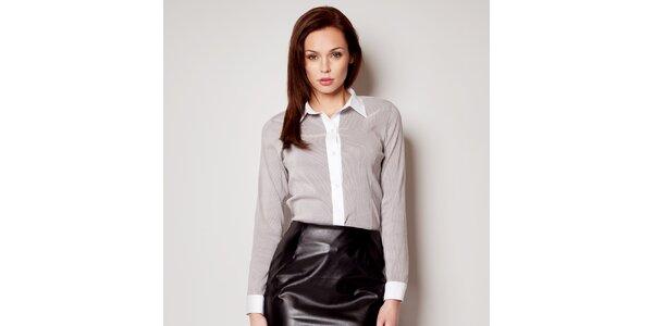 Dámská černo-bílá pruhovaná košile Figl