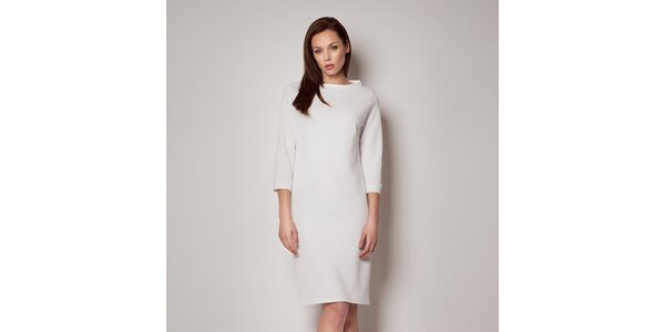 Dámské bílé šaty Figl s tříčtvrtečním rukávem dc06681fe8e