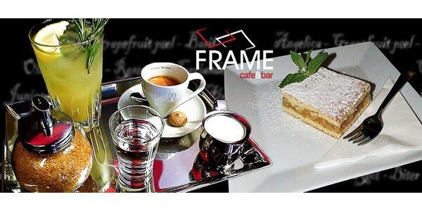 2 kávy, 2 limonády a 2 koláče v cafe&bar Frame