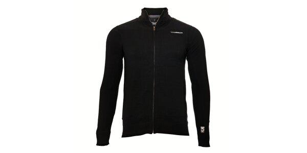 Klasický pánský černý svetr značky Deeluxe