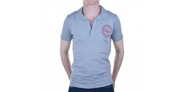 Pánské šedé tričko Diesel s potiskem