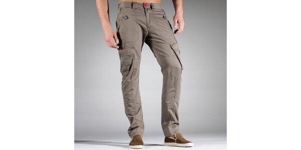 Pánské světle hnědé sportovní kalhoty Diesel