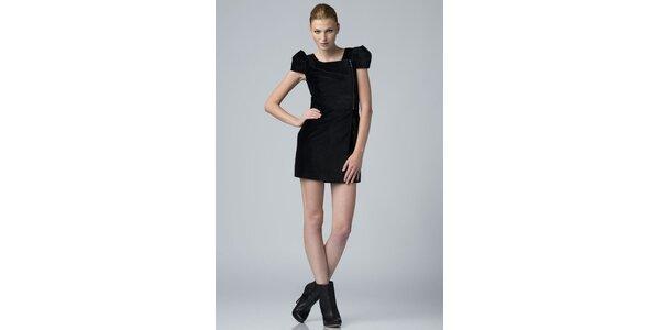 Dámské černé sametové šaty Eleven Paris