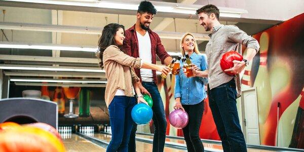 Hodina bowlingu a 4x alko i nealko nápoj