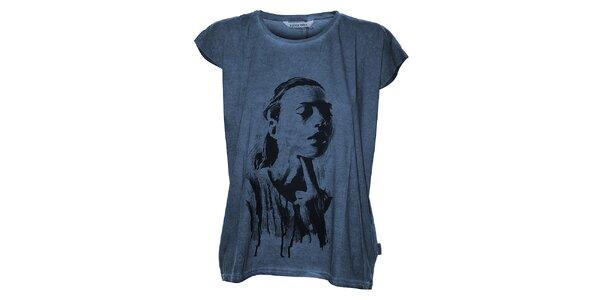 Dámské tmavě modré tričko Eleven Paris s potiskem