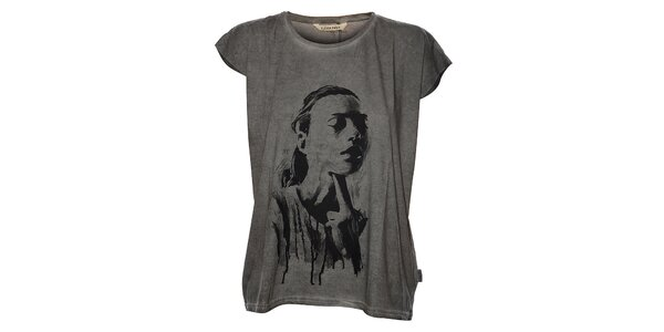 Dámské světle šedé tričko Eleven Paris s potiskem