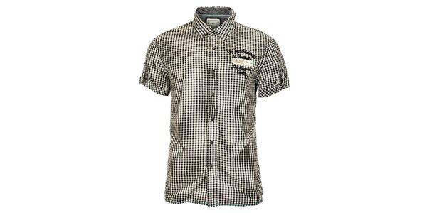 8becc61b94a Pánské černobílá košile Timeout s krátkým rukávem