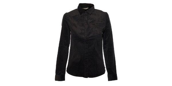 Dámská černá manšestrová košile Eleven Paris