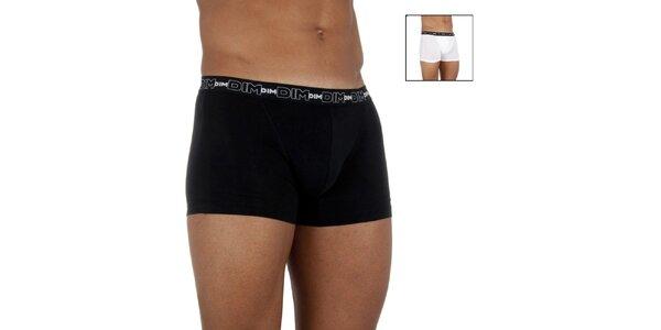 Dvoje pánské boxerky DIM bílé a černé