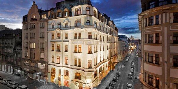 Luxusní hotel u Václavského náměstí, snídaně