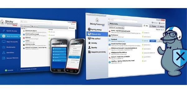 Sticky Password - OCHRÁNCE nejen vašich PLATEBNÍCH KARET na internetu