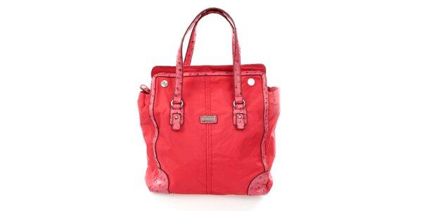Dámská červená nákupní kabelka United Colors of Benetton