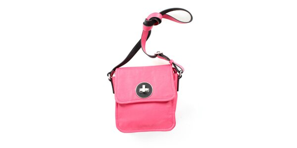 Dámská růžová kabelka přes rameno United Colors of Benetton s černým zámkem