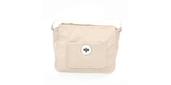 Dámská béžová kabelka s vnější kapsou United Colors of Benetton