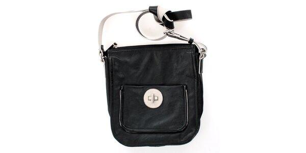 Dámská černá kabelka se zámečkem United Colors of Benetton