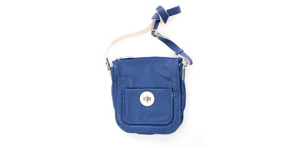 Dámská modrá kabelka se zámečkem United Colors of Benetton