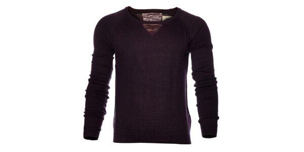 Pánský tmavě fialový svetr Eleven Paris